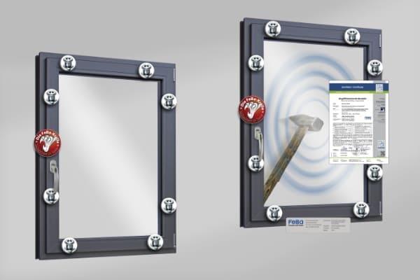 Kellerfenster mit Sicherheitsglas und Sicherheitsbeschlägen