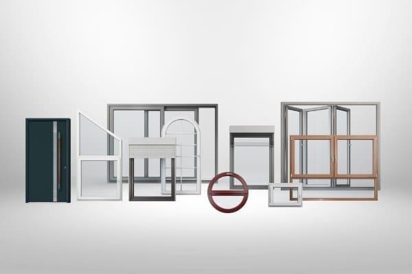 Vielfalt an Produkten wie Schiebetüren, Fenster, Haustüren und Sonderbauelemente von FeBa
