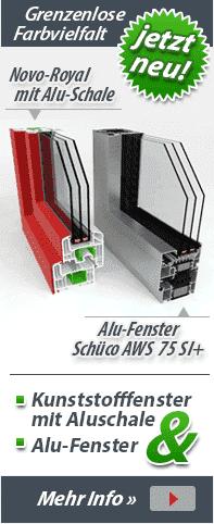 Alu-Fenster und Kunststofffenster mit Alu-Schale