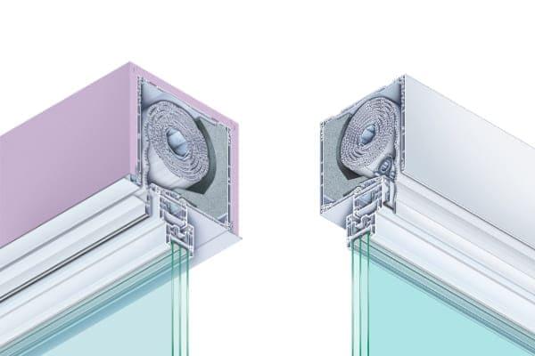 Aufsatzkästen Auputz und normal in Farbe weiß mit Mehrkammerfenster.