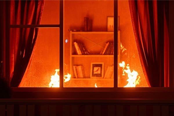 Feuer im Wohnzimmer