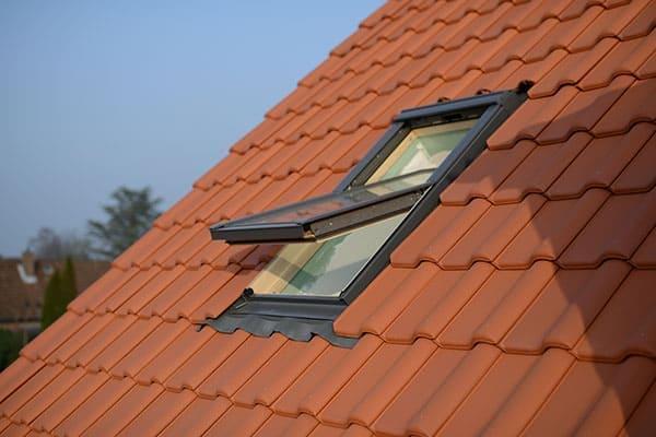 Schwingflügelfenster im Dachgeschoss