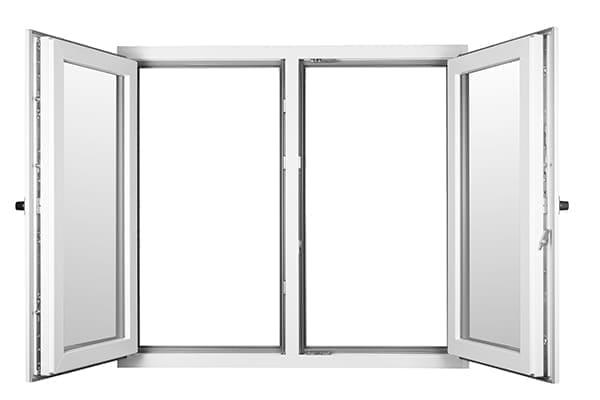 Doppelflügelfenster mit Steg