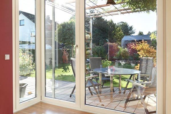 Terrassentür mit Eckfenster