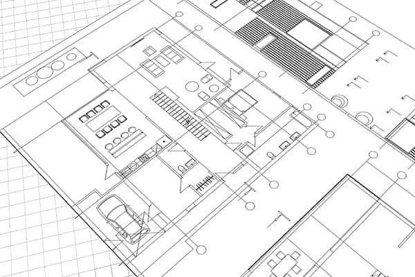 Bauplan von einem Haus.