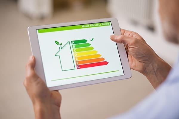 Tabelett mit Energiesparen Skizze