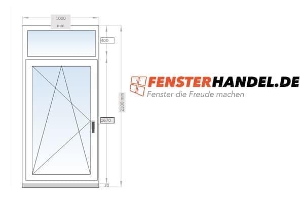 FensterHandel.de Oberlichtfenster Skizze von unserem Online Shop.