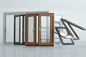 Fenstertypen in 3D dargestellt.