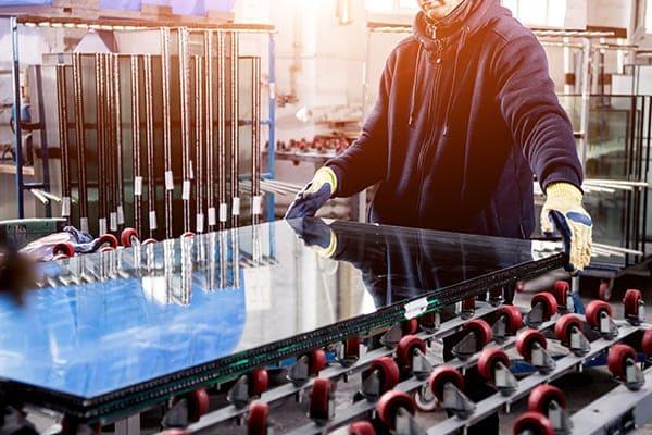Produktion Glasscheibe