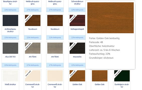Fensterfarben für Kunststofffenster