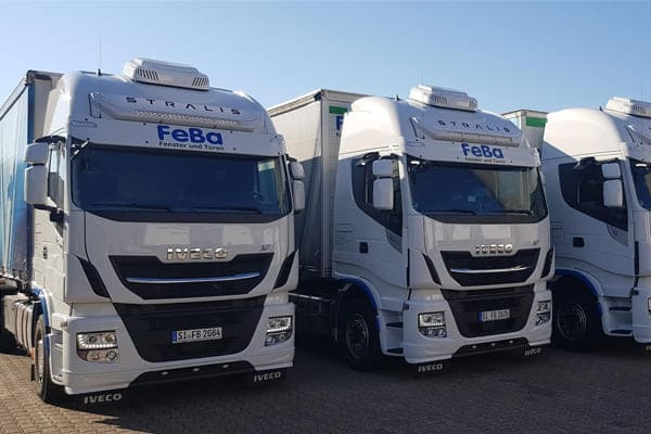 Drei FeBa LKW hintereinander