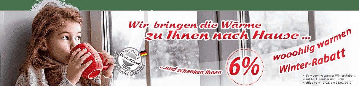 Winterrabatt f&uumlr Kunststofffenster
