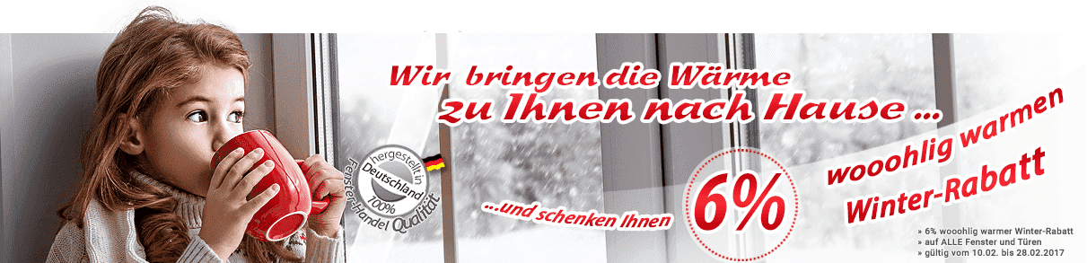 Winterrabatt für Kunststofffenster