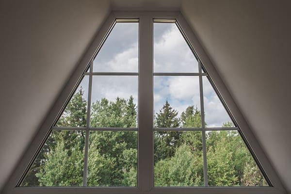 Schrägfenster im Dachgeschoss