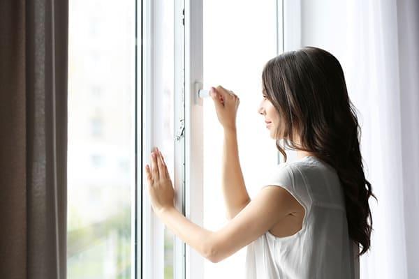 Vierteiliges Fenster zum Öffnen