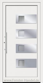 Schüco Haustüre ADS75, Modell AL 110 weiß
