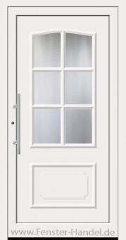 Schüco Haustüre ADS75, Modell AL 320 weiß