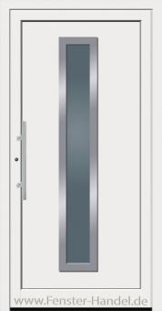 Schüco Haustüre ADS75, Modell AL 50 weiß