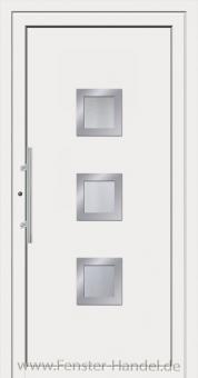 Schüco Haustüre ADS75, Modell AL 80 weiß