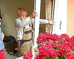 Fenster aushängen